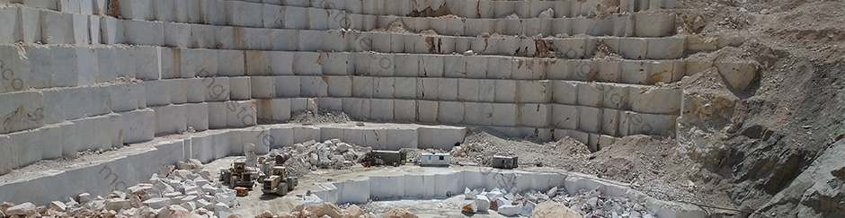 Pure White Marble Quarry