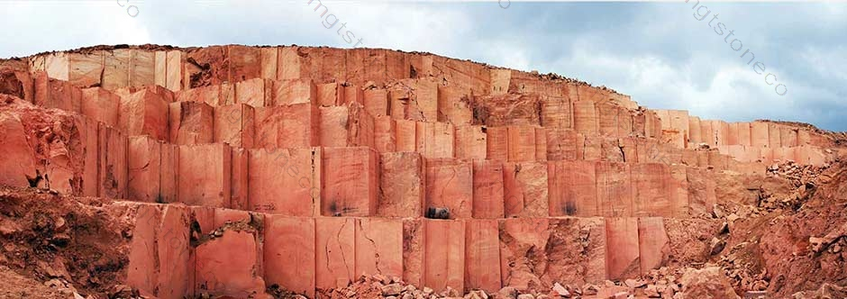 dark-red-travertine-quarry